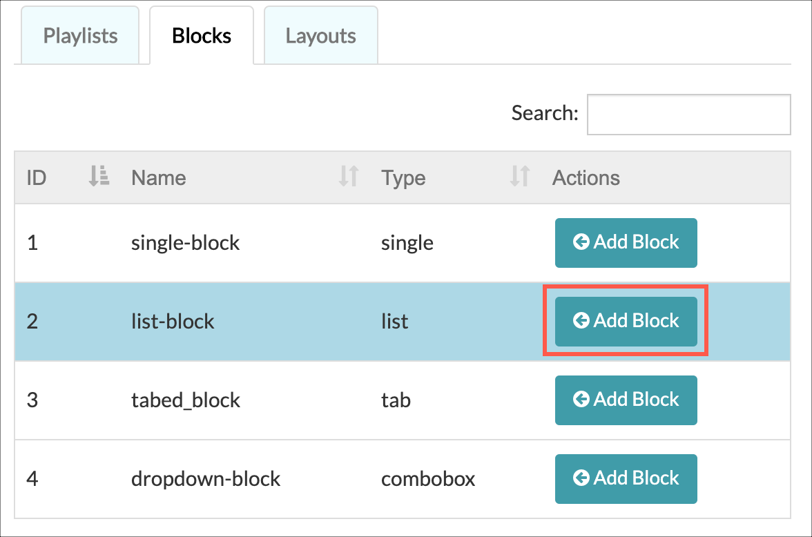 Add list block