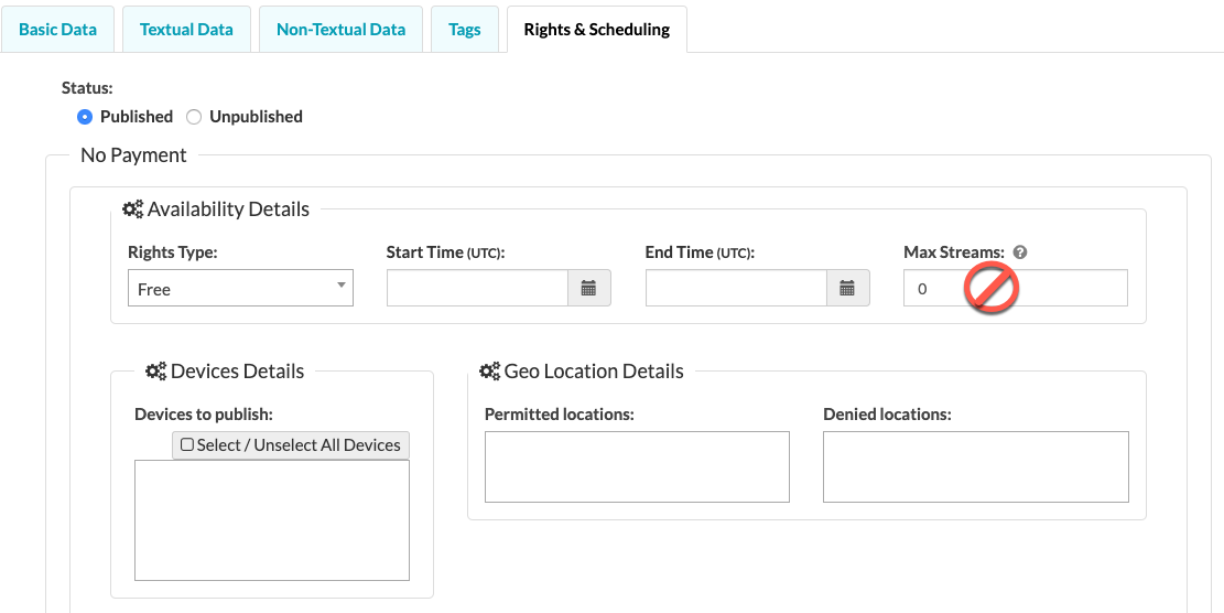 Rights & Scheduling